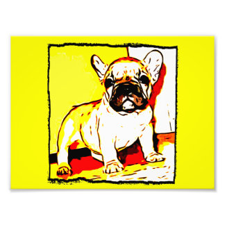 French Bulldog art Photo Print