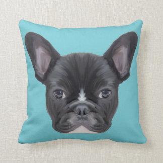 French Bulldog Art Portrait Cushion