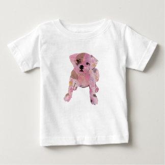 French bulldog Baby White T shirt Fine Jersey