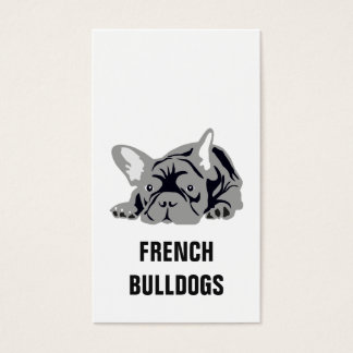French Bulldog Black Business Card