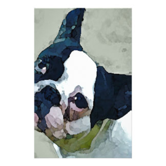 French Bulldog Black/White Stationery