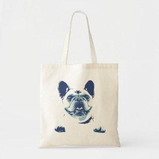 French Bulldog Blue Graphics Tote Bag