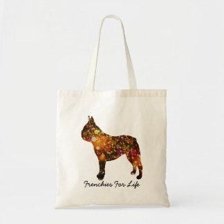 French Bulldog Bokeh Silhouette Tote Bag