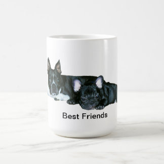 French Bulldog & Boston Terrier 'Best Friends' Mug