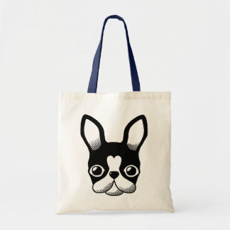French Bulldog/Boston Terrier Budget Tote Bag