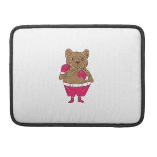 French Bulldog Boxer Boxing Stance Cartoon MacBook Pro Sleeves