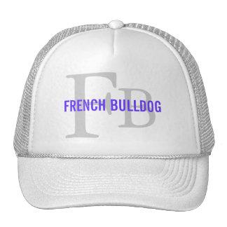 French Bulldog Breed Monogram Design Cap