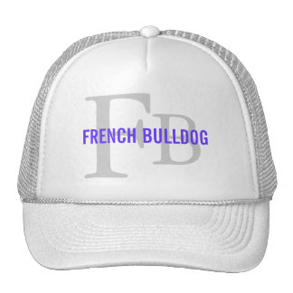 French Bulldog Breed Monogram Design Mesh Hats