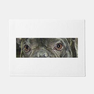 french bulldog brindle eyes doormat