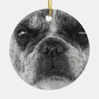 french-bulldog ceramic ornament