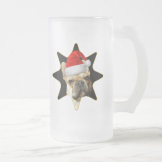 French Bulldog Christmas Frosted mug