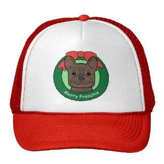 French Bulldog Christmas Hat