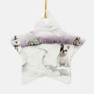French bulldog Christmas ornament