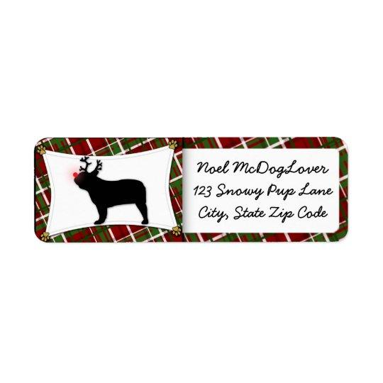 French Bulldog Christmas Return Address Label
