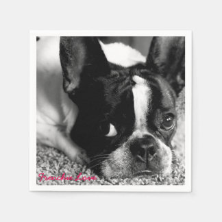 French Bulldog Cocktail Napkins Disposable Napkins