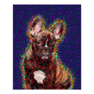 French Bulldog Colorful Pop Art Poster