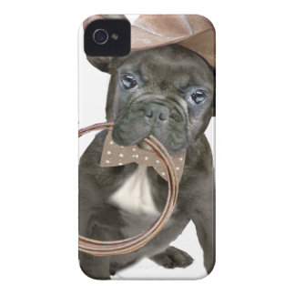 FRENCH BULLDOG country boy Case-Mate iPhone 4 Case