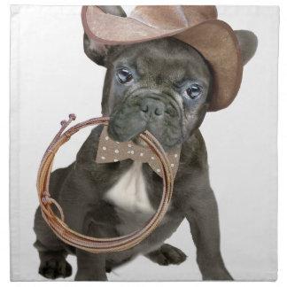 FRENCH BULLDOG country boy Napkin