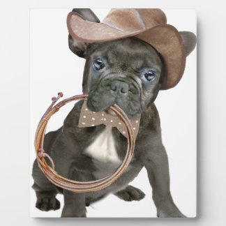 FRENCH BULLDOG country boy Plaque