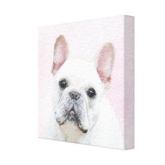 French Bulldog (Cream/White) Canvas Print