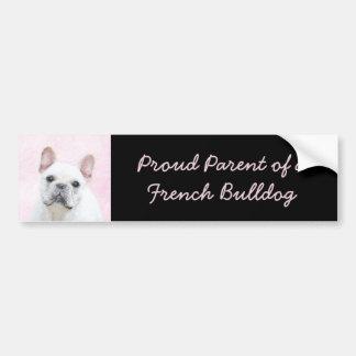 French Bulldog (Cream/White) Painting - Dog Art Bumper Sticker
