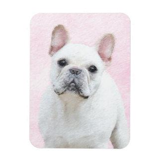French Bulldog (Cream/White) Painting - Dog Art Magnet
