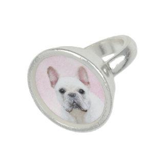 French Bulldog (Cream/White) Painting - Dog Art Ring
