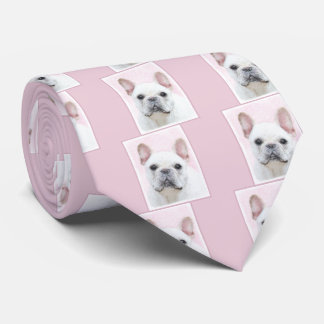 French Bulldog (Cream/White) Tie