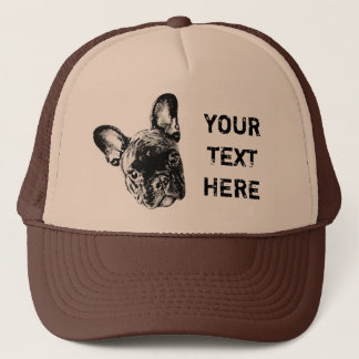 French Bulldog Custom Font Trucker Hat