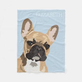 French Bulldog | Cute Frenchie Name Fleece Blanket