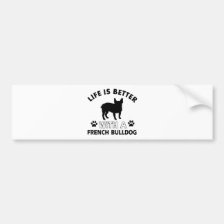 French Bulldog designs Bumper Sticker