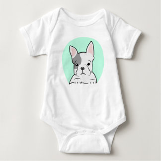French Bulldog, Digital Illustration, Dog Baby Bodysuit