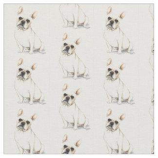 French Bulldog Dog Art Fabric