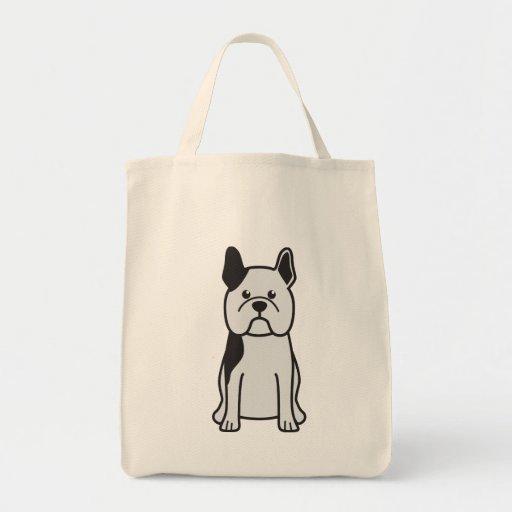 French Bulldog Dog Cartoon Canvas Bags