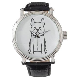 French Bulldog Dog Cartoon Watch