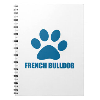 FRENCH BULLDOG DOG DESIGNS NOTEBOOK