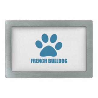 FRENCH BULLDOG DOG DESIGNS RECTANGULAR BELT BUCKLE
