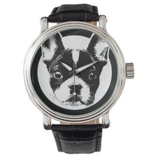 French Bulldog Dog Face Wrist Watch