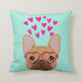 French Bulldog - fawn valentines love gift Cushion