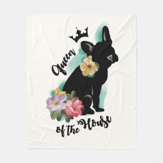 French Bulldog fleece blanket | MEDIUM