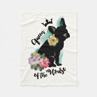 French Bulldog fleece blanket | Queen of the house