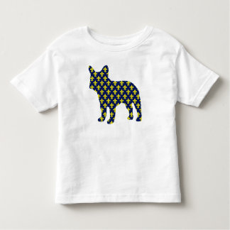 French Bulldog Fluer de Lis Toddler T-Shirt