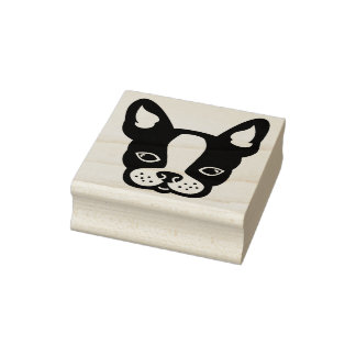 French Bulldog-Frenchie-Boston Terrier-Stamp Rubber Stamp