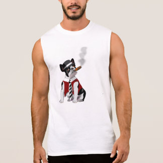 French bulldog gangster sleeveless shirt