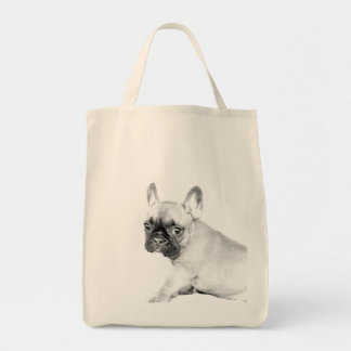 French Bulldog Grocery Tote Bag