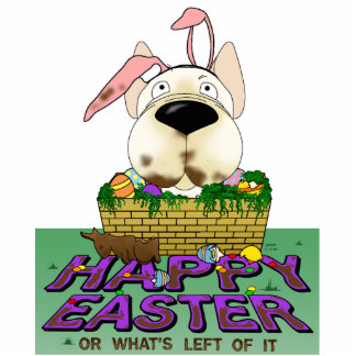 French Bulldog Happy Easter Sculpture Standing Photo Sculpture