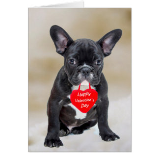 French Bulldog Happy Valentine's Day Greeting Card