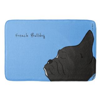 French Bulldog Head Bath Mat
