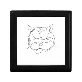 French Bulldog Head Continuous Line Gift Box