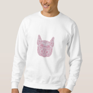 French Bulldog Head Front Mandala Sweatshirt